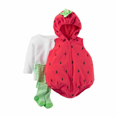 jcpenney.com | Carter's® 3-pc. Little Strawberry Halloween Costume - Baby Girls 3m-24m