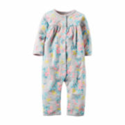 Carter's® Gray Floral Terry Jumpsuit - Baby Girls newborn-24m