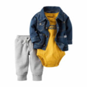 Carter's® 3-pc. Denim Jacket, Bodysuit and Pants Set - Baby Boys newborn-24m