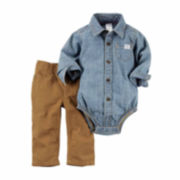 Carter's® 2-pc. Chambray Bodysuit and Pants Set - Baby Boys newborn-24m