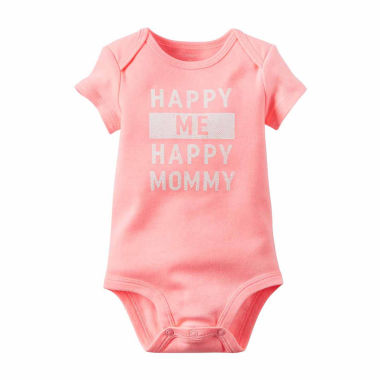 jcpenney.com | Carter's® Short-Sleeve Happy Me Happy Mom Bodysuit - Baby Girls newborn-24m