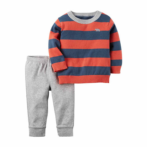 Carter's® 2-pc. Orange Sweater and Pants Set - Baby Boys newborn-24m