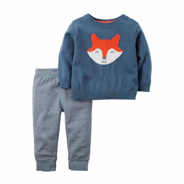jcpenney.com | Carter's® Blue Fox 2-pc. Sweater & Pant Set - Baby Boys newborn-24m