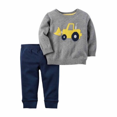jcpenney.com | Carter's® Heather 2-pc. Sweater & Pant Set - Baby Boys newborn-24m