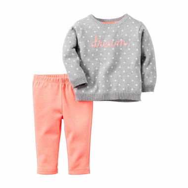 jcpenney.com | Carter's® 2-pc. Pink Dream Sweater and Pants Set - Baby Girls newborn-24m