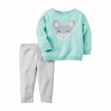 jcpenney.com | Carter's® 2-pc. Turquoise Mouse Top and Pants Set - Baby Girls newborn-24m