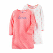 Carter's® 2-pk. Peach Floral Long-Sleeve Gowns - Toddler Girls 2t-5t