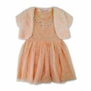 Nanette Baby Girls Short Sleeve Jacket Dress