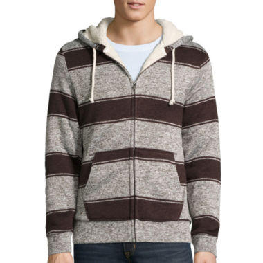jcpenney.com | Arizona Stripe Sherpa-Lined Hoodie