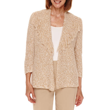 jcpenney.com | Alred Dunner Cactus Ranch 3/4 Sleeve Fringe Cardigan - Petites