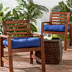 """20"""" Outdoor Chair Cushion Set Of 2"""