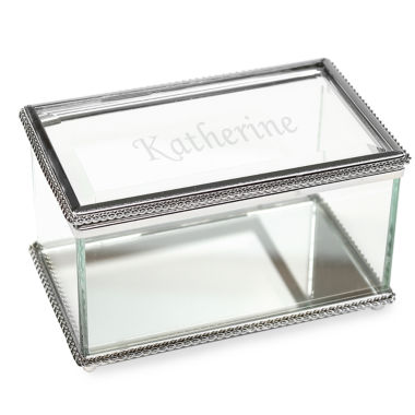 jcpenney.com | Cathy's Concepts Personalized Beveled Glass Keepsake Box
