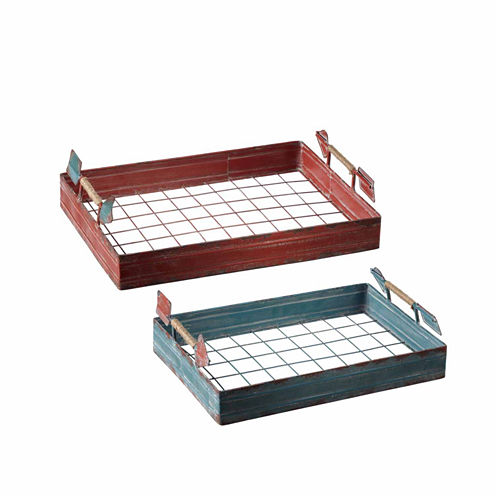 Arrow Handle Tray- Set of 2