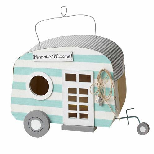 """Mermaids Welcome"" Camper Birdhouse"