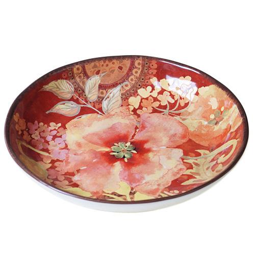 Certified International Watercolor Poppies Serving Bowl