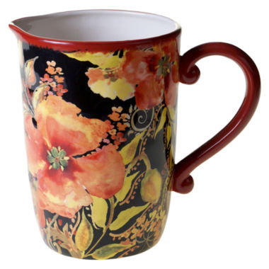 jcpenney.com | Certified International Watercolor Poppies Serving Pitcher