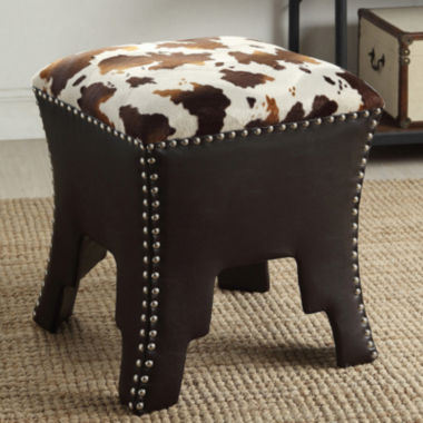 jcpenney.com | Baxton Studio Sally Animal Print Faux-Leather Upholstered Accent Stool with Nail Heads