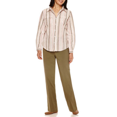jcpenney.com | Alfred Dunner® Cactus Ranch Long Sleeve Stripe Shirt And Pant