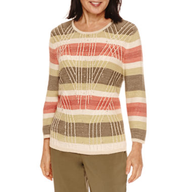 jcpenney.com | Alfred Dunner® Cactus Ranch  3/4 Sleeve Stripe Sweater