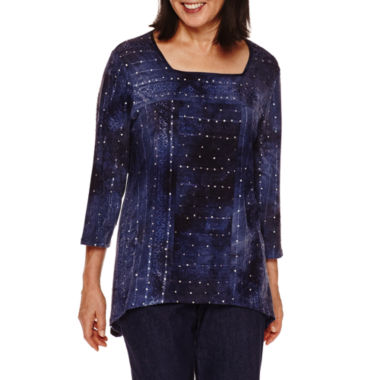 jcpenney.com | Alfred Dunner Sierra Madre 3/4 Sleeve Tie Dye Top