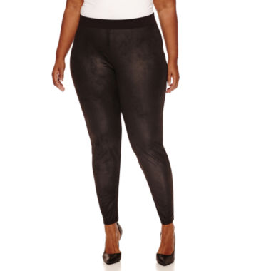 jcpenney.com | a.n.a Solid Faux Suede Leggings