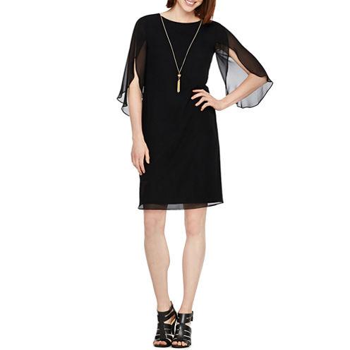MSK Elbow Sleeve Shift Dress