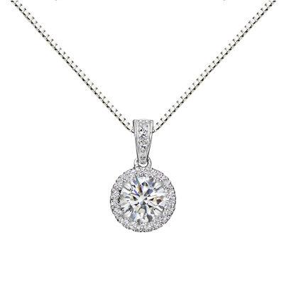 Womens white sapphire sterling silver pendant necklace jcpenney womens white sapphire sterling silver pendant necklace aloadofball Image collections