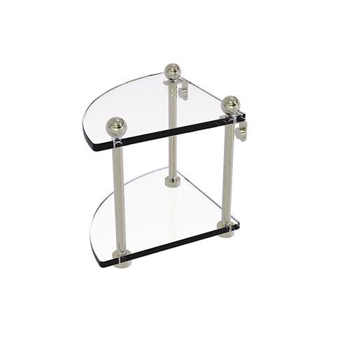 Allied Brass Two Tier Corner Glass Shelf