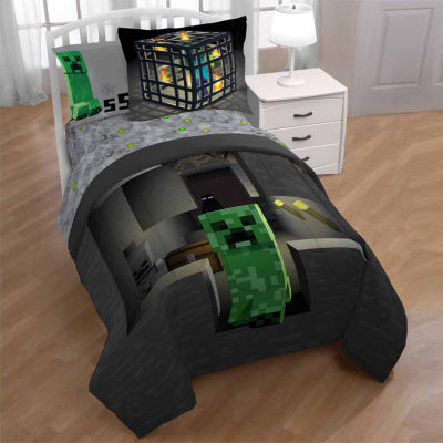 Minecraft 2 Pc Twin Full Reversible Comforter Set