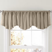 Prelude Rod-Pocket Rounded Ascot Valance