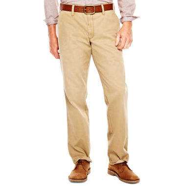 jcpenney.com | Haggar® Life Khaki Flat-Front Washed Twill Chinos