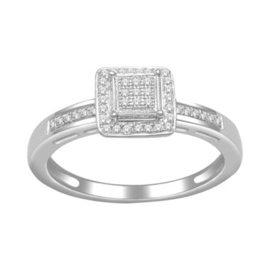 jcpenney.com | 1/7 CT. T.W. Diamond Princess-Style Ring