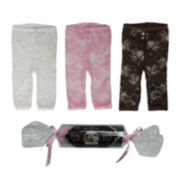 Baby Bella Maya™ 3-pk. Lace Leggings - Girls 6m-12m