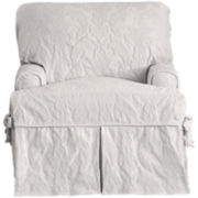 SURE FIT® Matelassé Damask 1-pc. T-Cushion Chair Slipcover