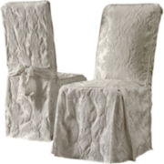 SURE FIT® Matelassé Damask Dining Side Chair Slipcover