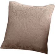 "SURE FIT® Stretch Jacquard Damask 18"" Square Decorative Pillow"