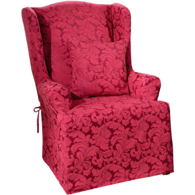 jcpenney.com | SURE FIT® Scroll 1-pc. Wing Chair Slipcover