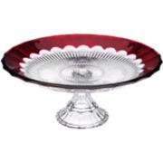 Mikasa® Crimson Dawn Cake Plate