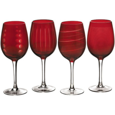 jcpenney.com | Mikasa® Cheers Ruby Set of 4 Wine Glasses