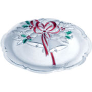 Mikasa® Holiday Bells Crystal Serving Platter