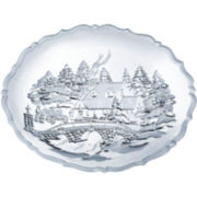 Mikasa® Winter Wonderland Crystal Serving Platter