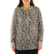 a.n.a® Mandarin-Collar Popover Top - Plus