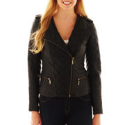 Collection B. Quilted Faux-Leather Jacket