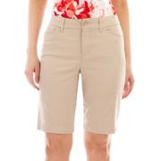 St. John's Bay® Secretly Slender Bermuda Shorts - Tall