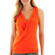 Worthington® Sleeveless Beaded Crossover Blouse - Tall