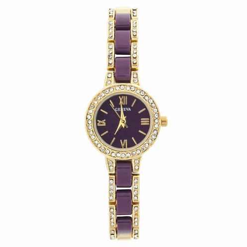 Geneva Womens Gold Tone Bracelet Watch-Jcp2960