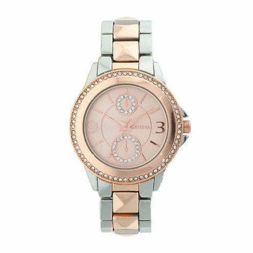 Geneva Womens Silver Tone Bracelet Watch-Jcp2962