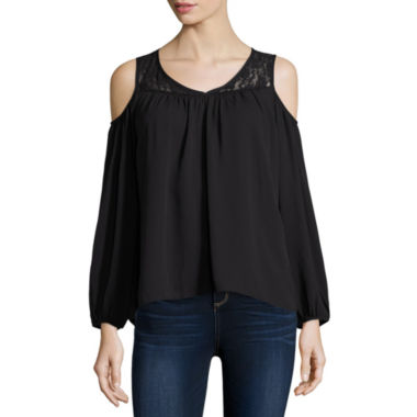 jcpenney.com | Decree® Cold Shoulder Top - Juniors