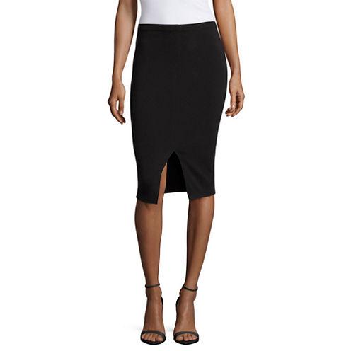 Decree® Slit Front Bodycon Skirt - Juniors