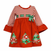 Bonnie Jean Long Sleeve Party Dress - Toddler